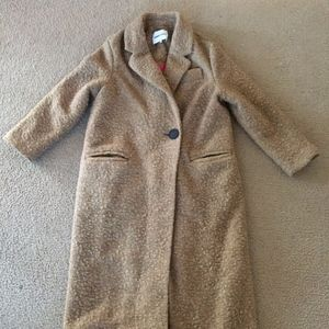 Bimba Y Lola Brown Wool Coat Long Oversized Medium